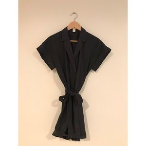 Black collared romper from H&M